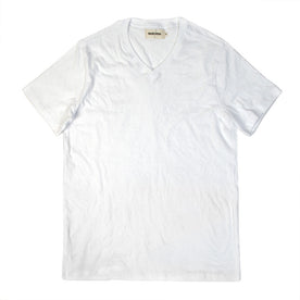 The V-Neck Tee in White: Featured Image