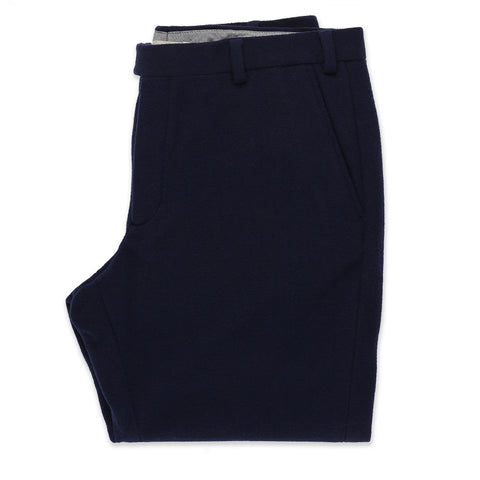 The Telegraph Trouser in Navy Boiled Wool - featured image