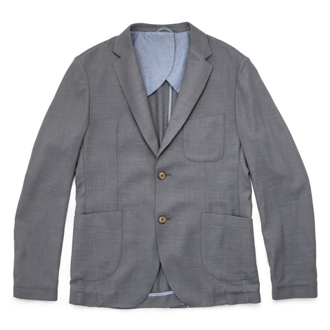 The Telegraph Jacket in Charcoal Slub - featured image