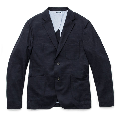 The Telegraph Jacket in Navy Slub - featured image