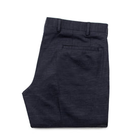 The Telegraph Trouser in Navy Slub: Alternate Image 7