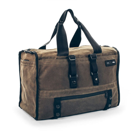 The Transit Duffel in Oak Waxed Canvas - featured image