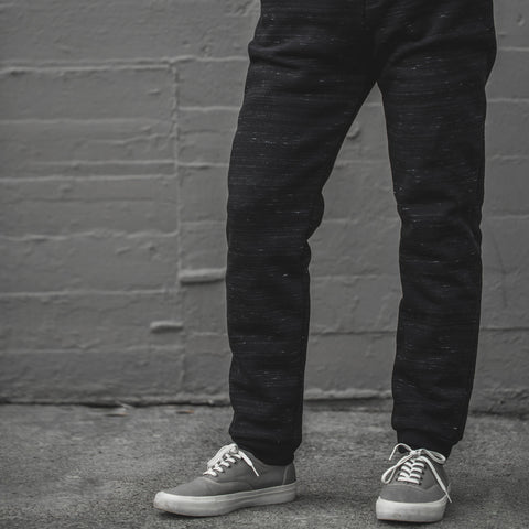 The Travel Pant in Black Fleece - alternate view