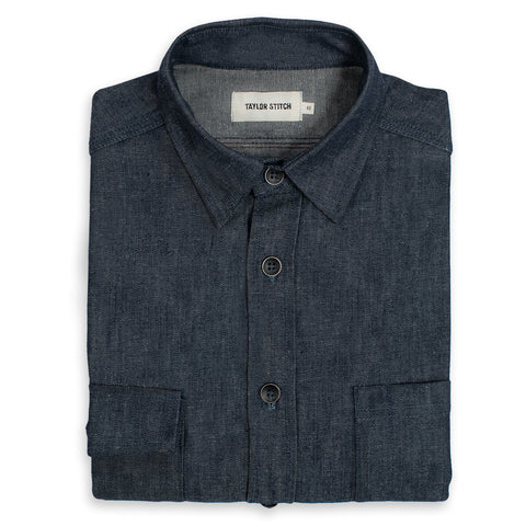The Utility Shirt in Swift Mills Denim - featured image