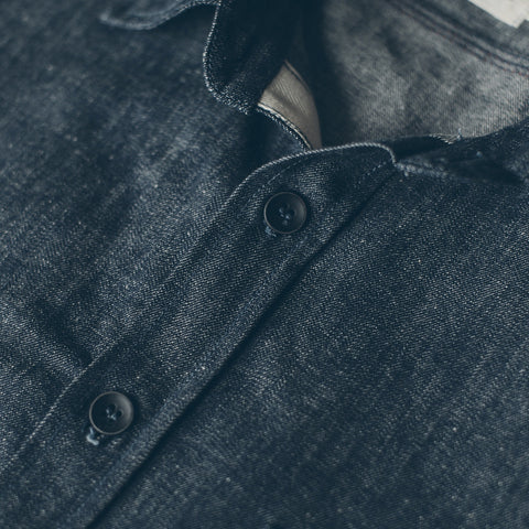 The Utility Shirt in Swift Mills Denim - alternate view
