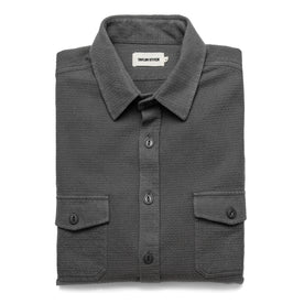 The Utility Shirt in Charcoal Jacquard - featured image