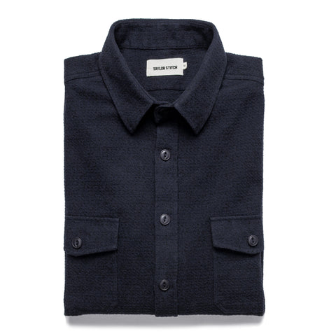 The Utility Shirt in Navy Jacquard - featured image