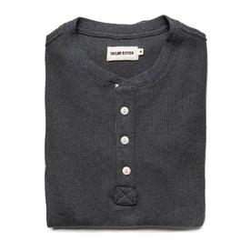 The Heavy Bag Waffle Henley in Heather Grey: Alternate Image 6