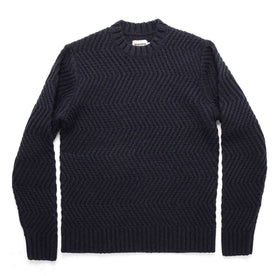 The Wave Sweater in Navy: Featured Image