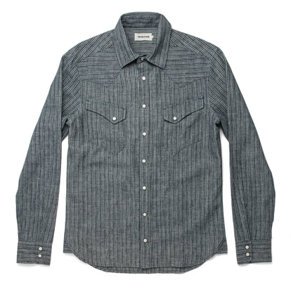 The Western Shirt in Hemp Stripe Chambray: Alternate Image 9