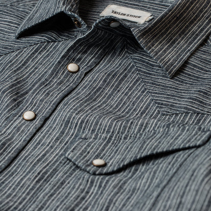 The Western Shirt in Hemp Stripe Chambray: Alternate Image 5