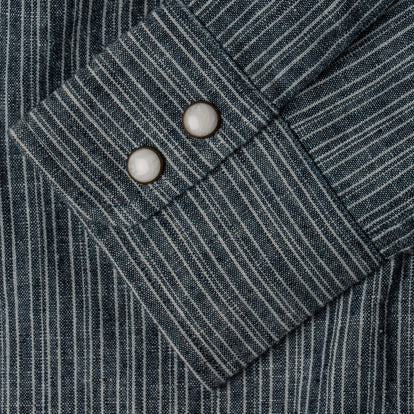 The Western Shirt in Hemp Stripe Chambray: Alternate Image 8