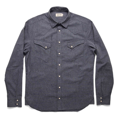 The Western Shirt in Indigo Stripe: Alternate Image 7