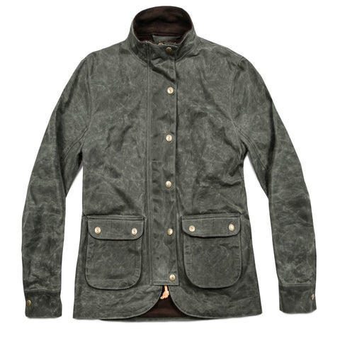 The Field Jacket in Dark Olive Beeswaxed Canvas - featured image