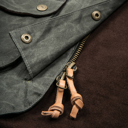 The Field Jacket in Dark Olive Beeswaxed Canvas
