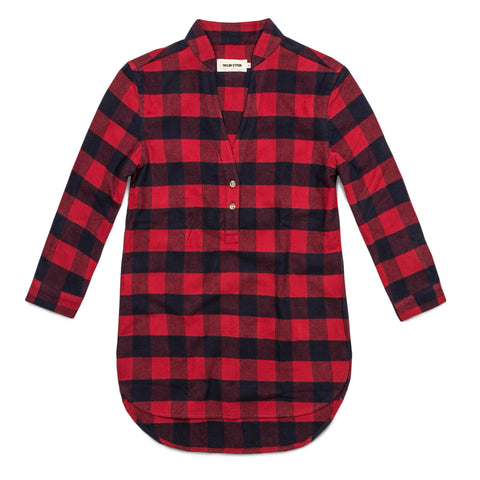 The Whitney Popover in Red Buffalo Plaid - featured image