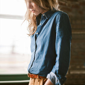 The Katherine in Sun Bleached Denim: Alternate Image 1