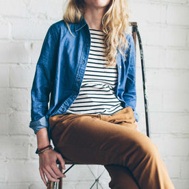The Katherine in Sun Bleached Denim: Alternate Image 4
