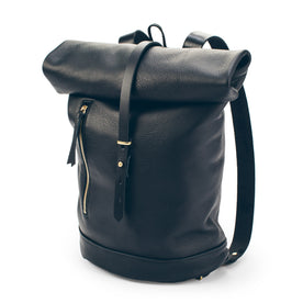 The Moto Rolltop Backpack in Noir: Featured Image