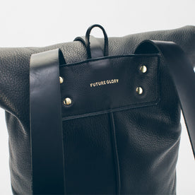 The Moto Rolltop Backpack in Noir: Alternate Image 2