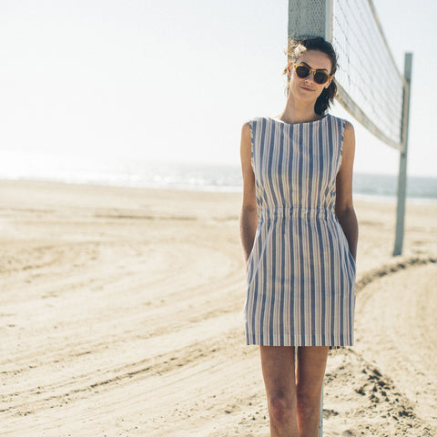 The Palisades Dress in Surf Stripe - alternate view