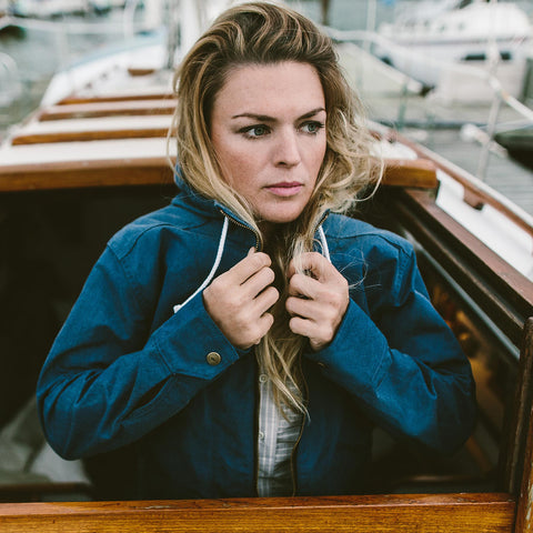 The Lighthouse Jacket in Indigo Chambray - alternate view