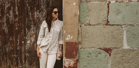 The Michelle Shirt in Maze Print