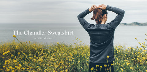 The Chandler Sweatshirt in Indigo Melange
