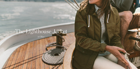 The Lighthouse Jacket in Olive