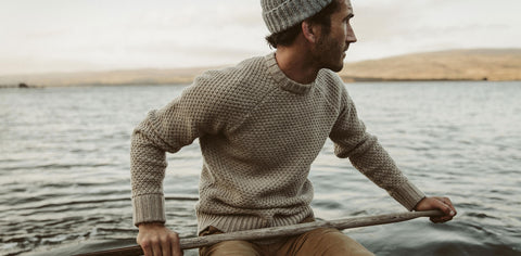 The Fisherman Sweater in Natural Melange