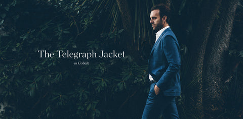 The Telegraph Jacket in Cobalt
