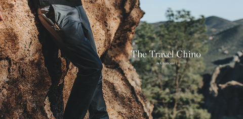 The Travel Chino in Charcoal