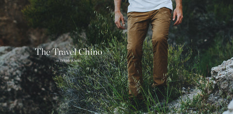 The Travel Chino in British Khaki