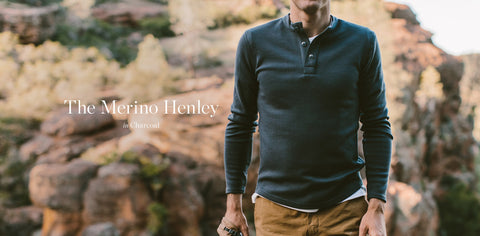 The Merino Henley in Charcoal