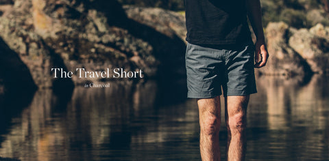 The Travel Short in Charcoal