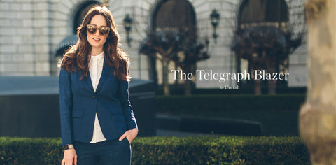 The Telegraph Blazer in Cobalt