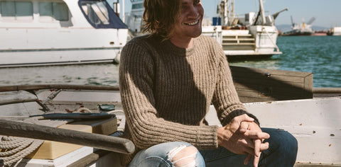 The Whaler Sweater in Alpaca Wool