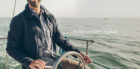 The Submariner in Navy Donegal Lambswool
