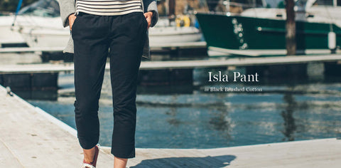 The Isla Pant in Black Brushed Cotton