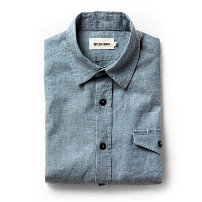 The Cash Shirt in Washed Hemp Chambray: Featured Image