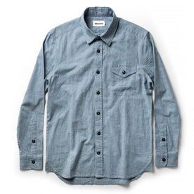 The Cash Shirt in Washed Hemp Chambray: Alternate Image 8