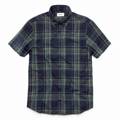 The Short Sleeve Jack in Green Madras: Featured Image