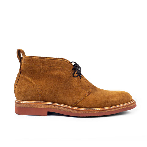 The Unlined Chukka in Butterscotch Weatherproof Suede - featured image