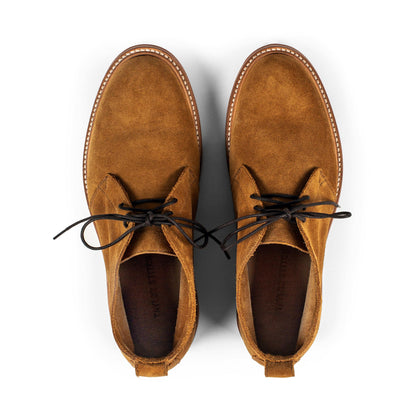 The Unlined Chukka in Butterscotch Weatherproof Suede: Alternate Image 6