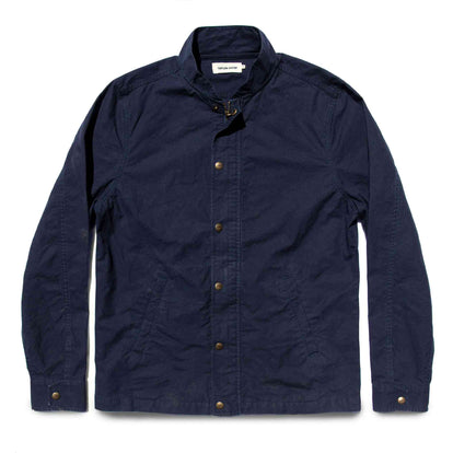 The Bomber Jacket in Navy Dry Wax: Featured Image