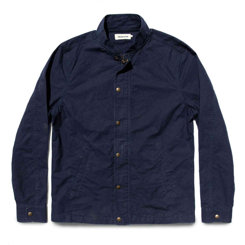 The Bomber Jacket in Navy Dry Wax - featured image