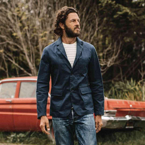 The Gibson Jacket in Light Navy - alternate view