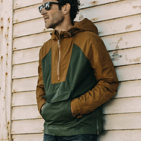 The Powder Jacket in British Khaki & Olive - alternate view