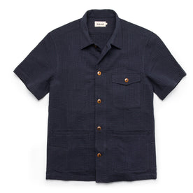 The Caravan Shirt in Navy Seersucker - featured image