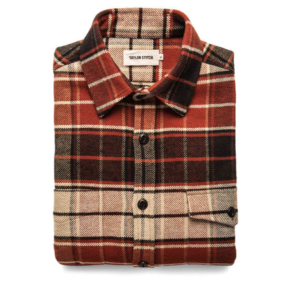 The Crater Shirt in Rust Plaid: Featured Image